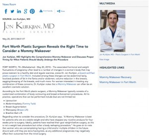 Plastic Surgeon in Fort Worth Highlights Ideal Time for a Mommy Makeover